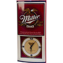 Miller Beer Light Up Advertisement Wall Clock