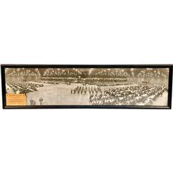 1952 Masonic Black & White Panoramic Photograph In Fram