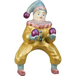 Painted Paper Mache Juggling Clown Display