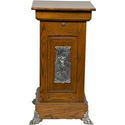 Oak Slot Machine Stand