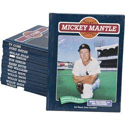 Lot of 13 Hardcover Baseball Legends Books: