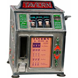 "1 Cent Countertop Dandy Vender ""Tavern"" 3-Reel Gumball"