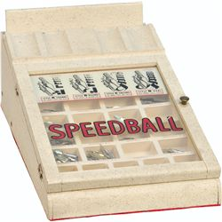 Speedball Pen Tip Wood And Glass Countertop Store Displ