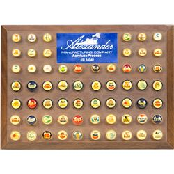 Wooden Wall Mount Pen Top Advertising Buttons Display