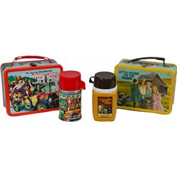 Lot Of 2 Vintage Tin Lunch Boxes: