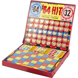 """64 Hit"" 25-Cent Folding Punchboard"