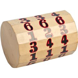 Mason Numbered Gaming Rolling Wooden Chuck Log