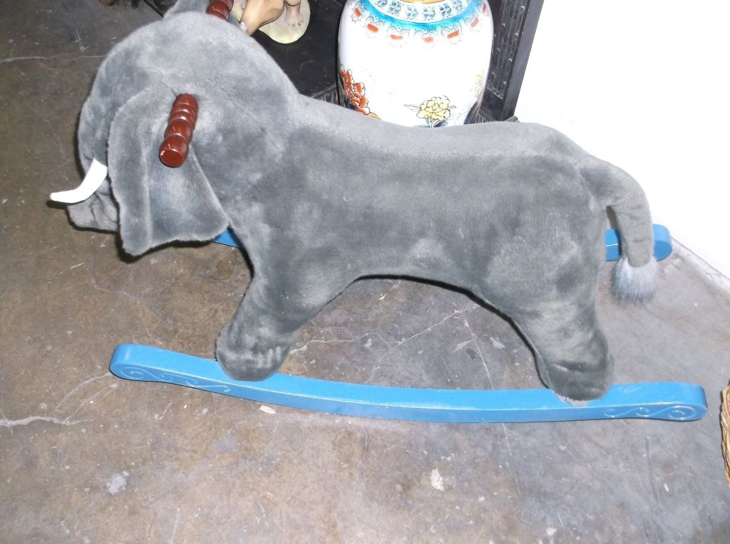 Stuffed Elephant Rocking Horse