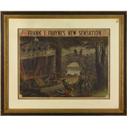 3 Framed Theatre Lithographs
