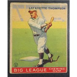 1933 Goudey baseball card #13  Thompson VG/EX  Book value $250