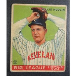 1933 Goudey baseball card #96  HUDLIN Good Book value $165