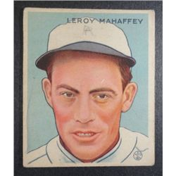 1933 Goudey baseball card #196 MAHAFFEY VG+ Book value $165