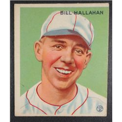 1933 Goudey baseball card #200 HALLAHAN EX O/C Book value $165