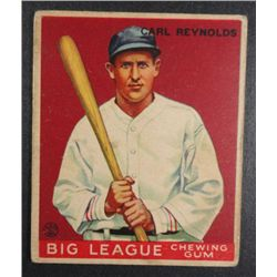 1933 Goudey baseball card #120 REYNOLDS VG+ Book value $165