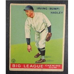 1933 Goudey baseball card #140   HADLEY VG/EX Book value $165