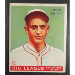 1933 Goudey baseball card #90   PETTY VG/EX Book value $165