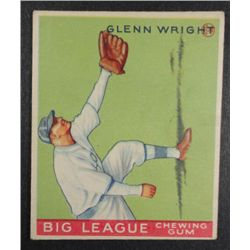1933 Goudey baseball card #143   WRIGHT VG/EX Book value $165