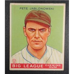 1933 Goudey baseball card #83   JABLONSKI EX Book value $165
