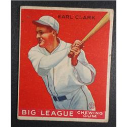 1933 Goudey baseball card #57   CLARK VG Book value $165