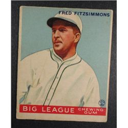 1933 Goudey baseball card #130  FITZSIMMONS VGEX Book value $165