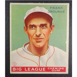 1933 Goudey baseball card #87  O'ROURKE VGEX Book value $165