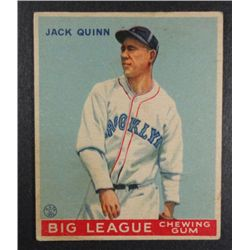 1933 Goudey baseball card #78  QUINN VGEX Book value $165