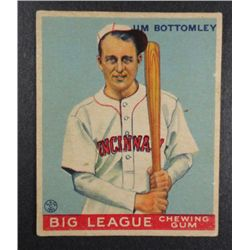 1933 Goudey baseball card #44  JIM BOTTOMLEY VG+ Book value $400