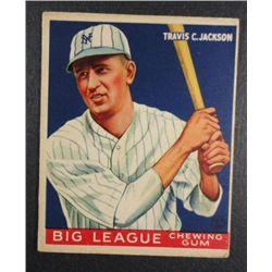1933 Goudey baseball card #102  TRAVIS JACKSON VG Book value $400