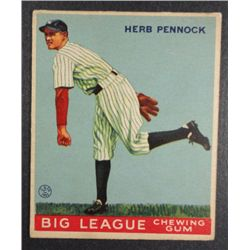 1933 Goudey baseball card #138  HERB PENNOCK  EX Book value $400