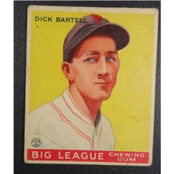 1933 Goudey baseball card #28 BARTELL  VG Book value $250