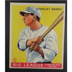 1933 Goudey baseball card #184  BERRY  VGEX+ Book value $165