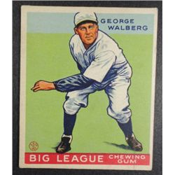 1933 Goudey baseball card #183  WALBERG  EX Book value $165