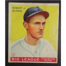1933 Goudey baseball card #71  BURKE  VG+ Book value $165
