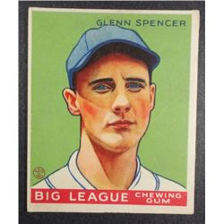 1933 Goudey baseball card #84  SPENCER  VG+  Book value $165
