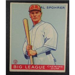 1933 Goudey baseball card #161  SPOHRER  VG+  Book value $165