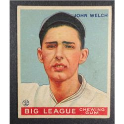 1933 Goudey baseball card #93  WELCH  VGEX+  Book value $165