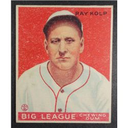 1933 Goudey baseball card #150  KOLP  VGEX+ Book value $165