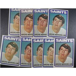 FAMILIAR FACE to a couple of todays stars:  10 ARCHIE MANNING ROOKIE CARDS EX or