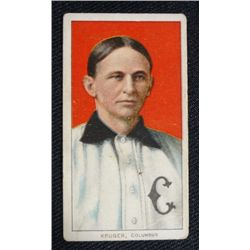 T206 tobacco card Kruger Columbus no crease VG very colorful