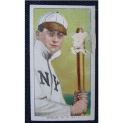 T206 tobacco card Mike Donlin NY  National EX peeling obv colorful