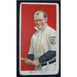 T206 tobacco card Joe Kelly Toronto VG crease middle colorful