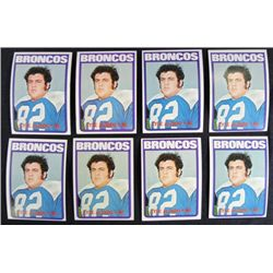 8  Lyle Alzado rookie cards 1972 Topps #106  Est $125-$140
