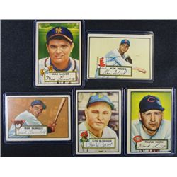 5 1952 TOPPS---Lanier #101,Wood #139,Smith rookie #179,McCullough #218