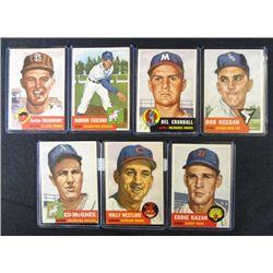 7 1953 TOPPS---Westlake #192,Kazak #194,McGhee #195,Keegan #196,Crandall #197
