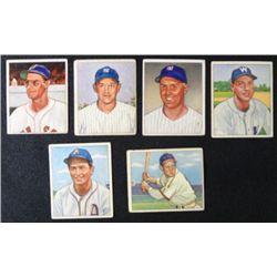 6 1950 Bowman: #36 Kazak-#49 Valo-#53 Vollmer-#101 Brown-#138 Reynolds-#153