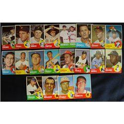 20  1963 Topps STAR cards avg EXMNT  #48-70-73-78-80-86-87-91-105-123-128-130-