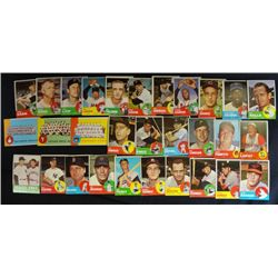 30  1963 Topps EX or better STARS AND TEAM CARDS# 11-12-23-27-31-46-48-55-69-77-