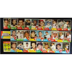 30  1963 Topps EX or better STARS AND TEAM CARDS#29-31-34-39-40-41-44-71-72-88