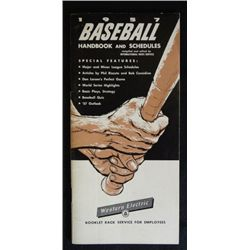 1957 baseball handbook and schedules. Highlites of the famous