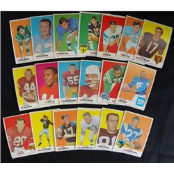 80 different 1969 Football cards ex or better many nmnt cards GREAT START TO A
